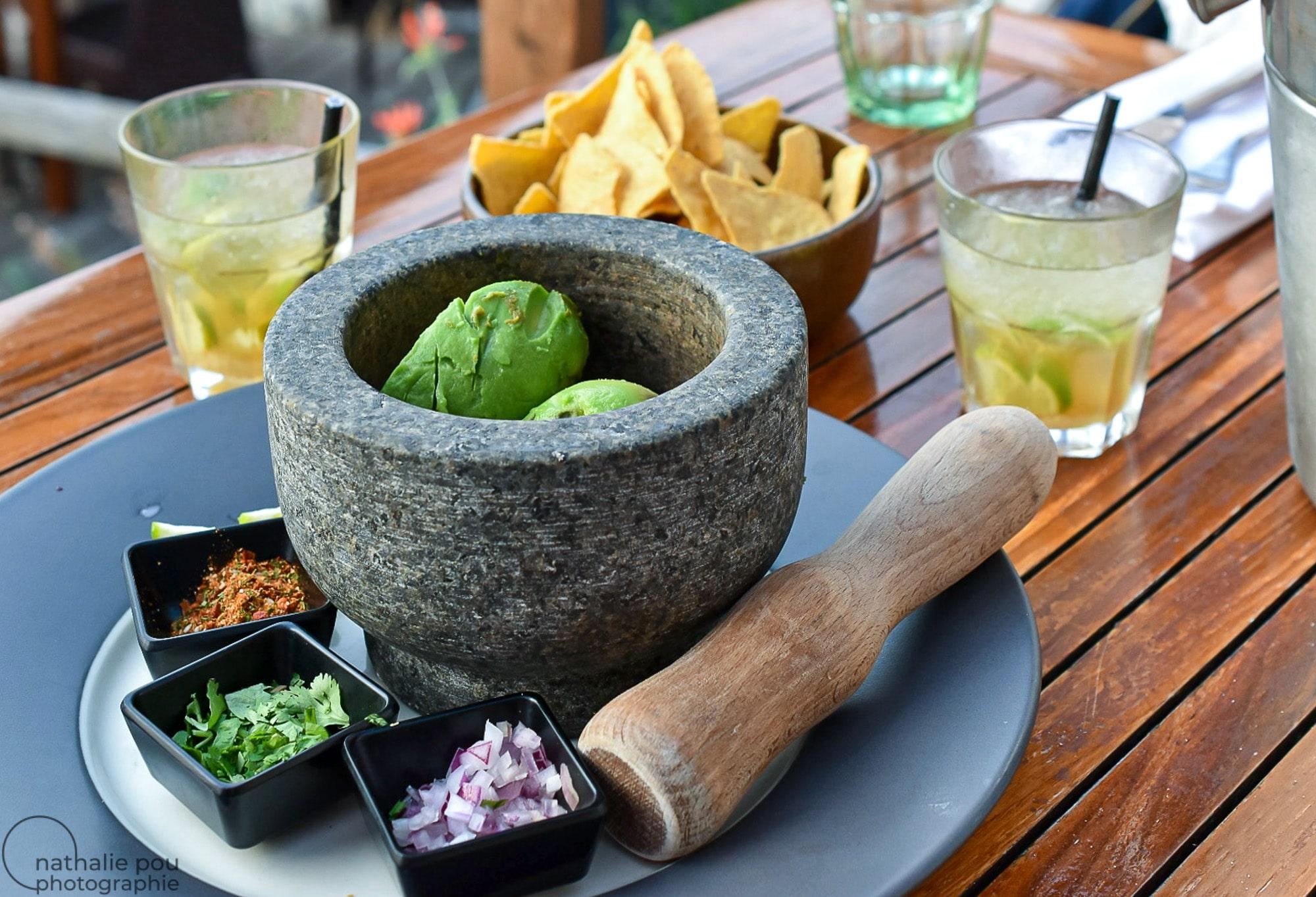 Photographe culinaire : Guacamole-cuisine exotique-Restaurant le Pain de Sucre-Lumio-Corse