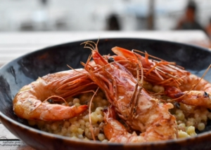Photographe Culinaire: Gambas grillées-Restaurant Le Pain de Sucre - Lumio - Corse